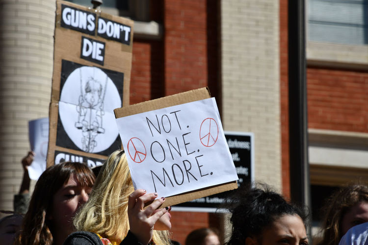 Student protesters staging a walkout march due to school shootings and gun violence. Activists Protest School Walkout Students Activism Enough Enough Is Enough  Gun Violence Guns National Protest Protesters Real People School Shooting Student Protest Walkout The Photojournalist - 2018 EyeEm Awards