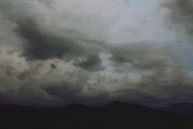 Sky And Clouds Skyporn Mountains Outdoors Rainy Days Clouds Clouds And Sky Skyscape Nature No People Outdoor Sky_collection in North Thailand South East Asia