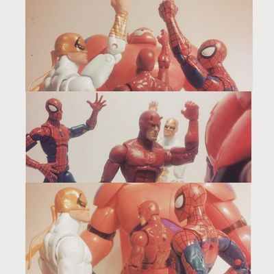 """Team-""""To the Defenders!!"""" Spidey-""""Um Daredevil..your facing the wrong way.."""" Daredevil """"Oh...i knew that..i was just testing you"""" Marvellegends Spiderman Amazingspiderman Mcu BANDAI Thedefenders Disney Hasbro Daredevil Thedefenders Ironfist Mattmurdock Nerd Collector Collection Figurecollection Actionfigures Peterparker Toys4life Articulatedcomicbook Bighero6 Tcb_flyupandaway Baymax Marvelentertainment Infiniteseries figures figurelife pixar toyslagram"""