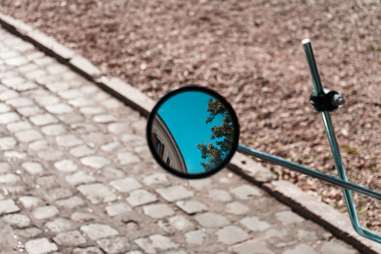 10 Mirror Close-up Day Focus On Foreground High Angle View Minimalism No People Street