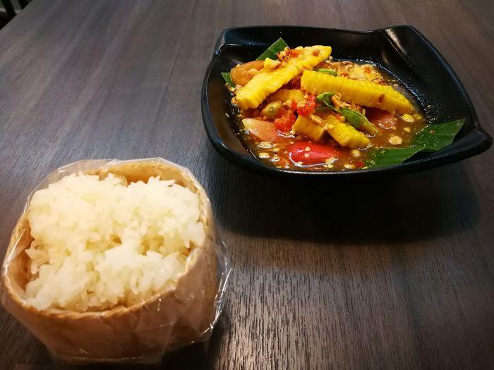 Cornsalad Food Food And Drink Healthy Eating Indoors  No People Spice Food Thailand