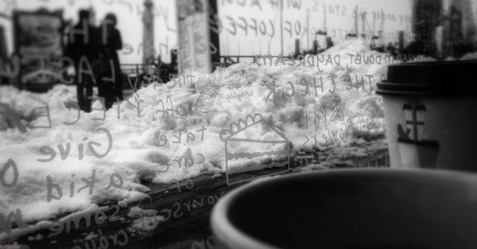 Stripped. Blackandwhite Snow ❄ Cold Coffee Coffee ☕ Coffehouse Marina Yachts Club