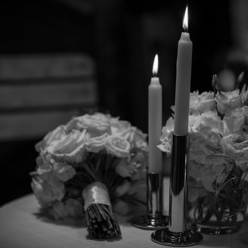 wedding decoration Candle Burning Flame Fire Table Indoors  No People Close-up Fire - Natural Phenomenon Candlestick Holder Nature Focus On Foreground Illuminated Heat - Temperature Selective Focus Still Life Container Flower Food And Drink Glass - Material