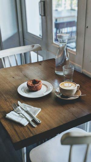 Breakfast on table