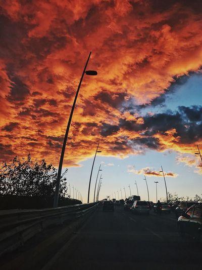 FloripaBeach Sky Cloud - Sky Beauty In Nature Road Sunset