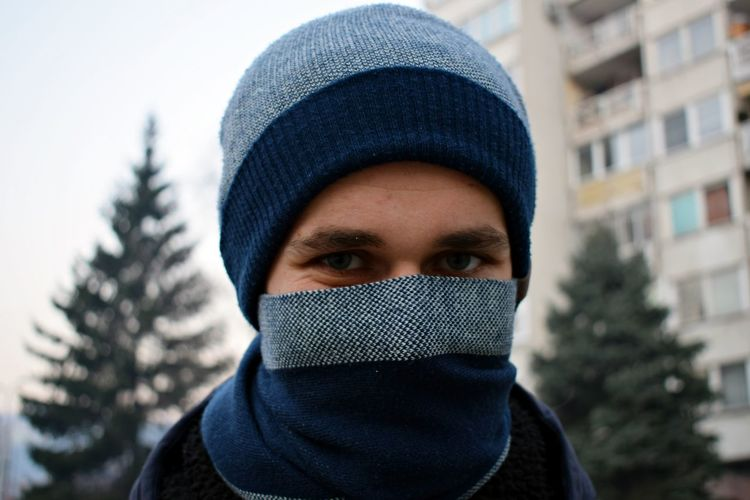 The air stinks, water stinks, talk stinks. Pollution Pollution Of The Environment Pollution Days Pollution Mask Pollutioninair Headshot Knit Hat One Person Looking At Camera Winter Adults Only Silence Real People Portrait Close-up Cold Temperature Adult People Only Men Human Eye Outdoors Men Human Body Part One Man Only Warm Clothing