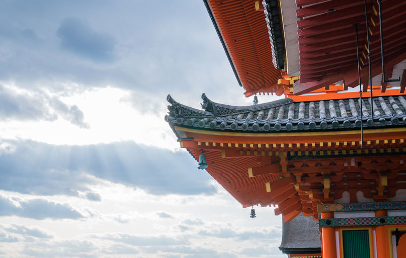 Architectural Feature Architecture Belief Building Building Exterior Built Structure Cloud - Sky Day Eaves Low Angle View Nature No People Outdoors Place Of Worship Religion Roof Shrine Sky Spirituality