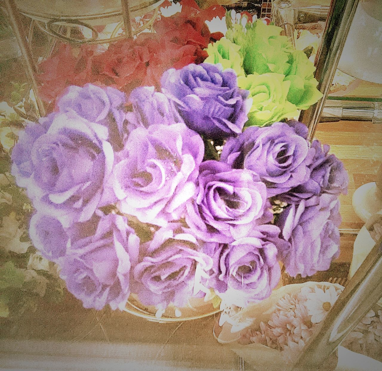flower, rose - flower, bouquet, petal, fragility, indoors, purple, freshness, no people, flower head, nature, close-up, beauty in nature, day