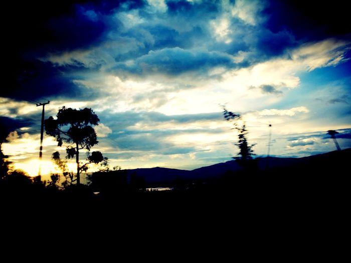 Sunset Sky Siluet, clouds, colors, Colombia, Bogotá