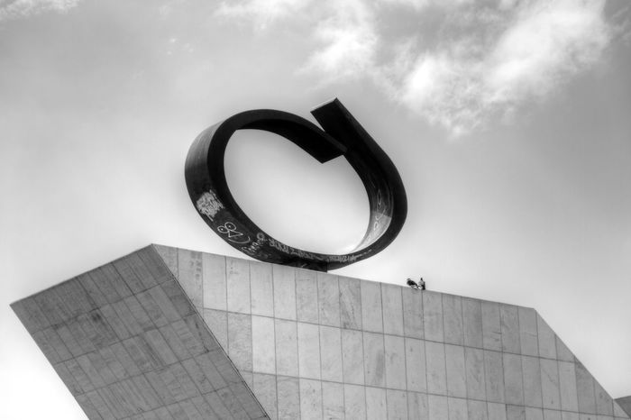 Brasilia city-Brazil Oscar Niemeyer Brasília - Brazil Brazil - Brasília - DF MonochromeStreet Photography Black And White Black&white Balancing Act Architecture_collectionUrban Sculpture