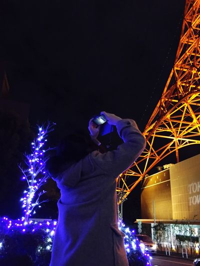My girl took a picture of the Tokyo tower. Tokyo Tower Tokyo Taking Photos