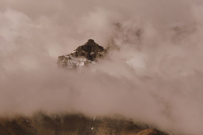 SurroundedByClouds WeekOnEyeEm Beauty In Nature Cold Temperature Day Landscape Mountain Mountain Peak Mountaintop Nature No People Outdoors Physical Geography Scenics Sky Snow Summitpoint Surrounded By Nature Tranquil Scene Tranquility EyeEm Nature Lover