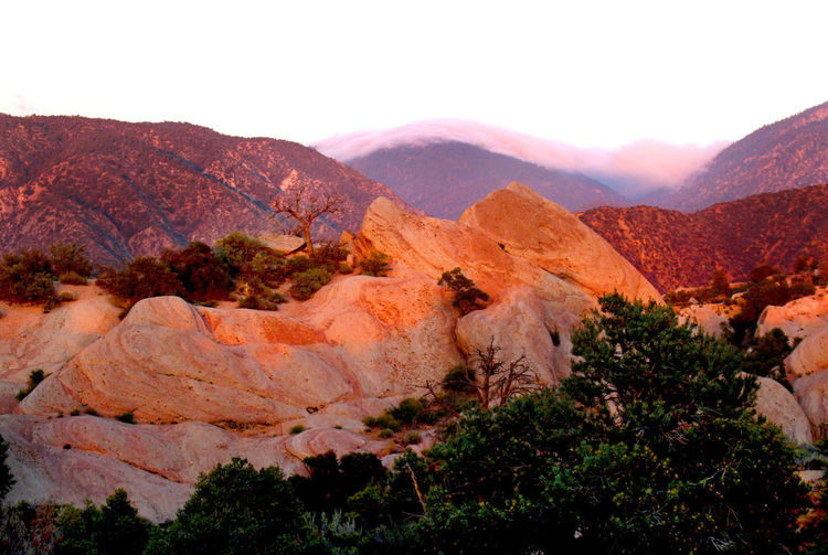 Beauty In Nature Desert Landscape Mountain Mountain Range Physical Geography Rock Formation Scenics Sunset Tranquil Scene Tranquility The Devil's Punchbowl Devil's Punchbowl Pearblossom, Ca