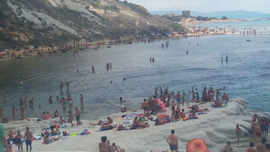 Enjoying Life No Filter Italy Sicily Scala Dei Turchi Porto Empedocle Agrigento Sea Mare Meer Beach Strand Spiaggia Sky Himmel Cielo Nuvole Clouds People Gente Relaxing