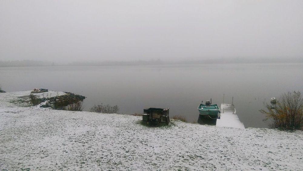 Early Snowfall Old Boat Morning Coffee 12daysofeyeem
