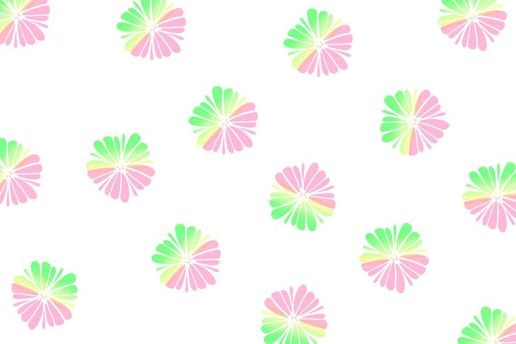 Close-up of multi colored umbrellas against white background