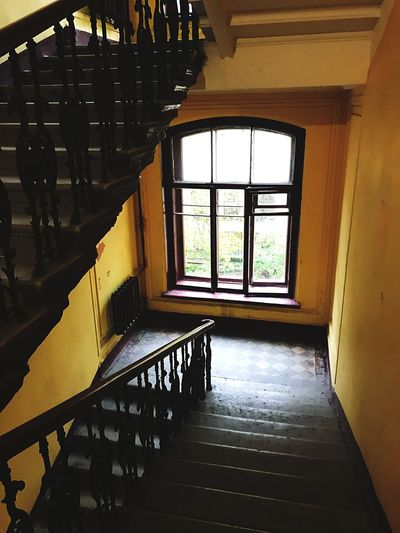 Window Indoors  Staircase Railing Steps Home Interior No People Architecture Day Built Structure