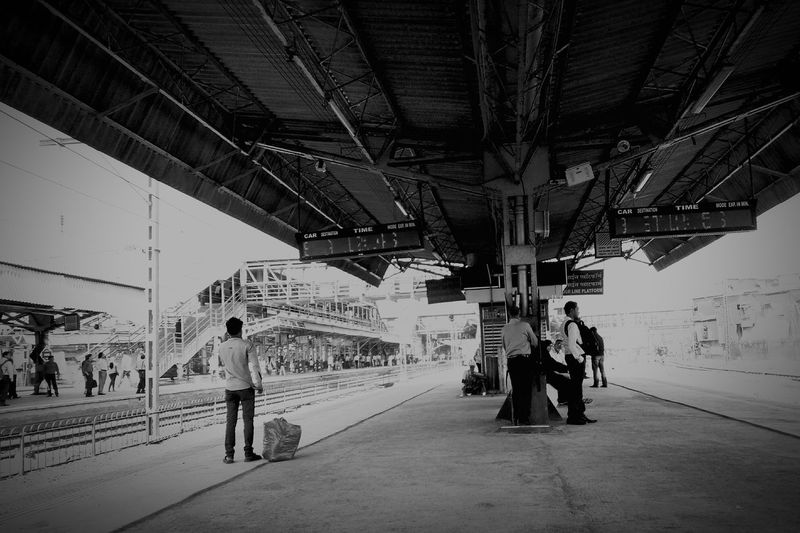Mumbai Mumbailocal Station Bandrastation Smartphonephotography Oneplus X First Eyeem Photo MyClick Adapted To The City