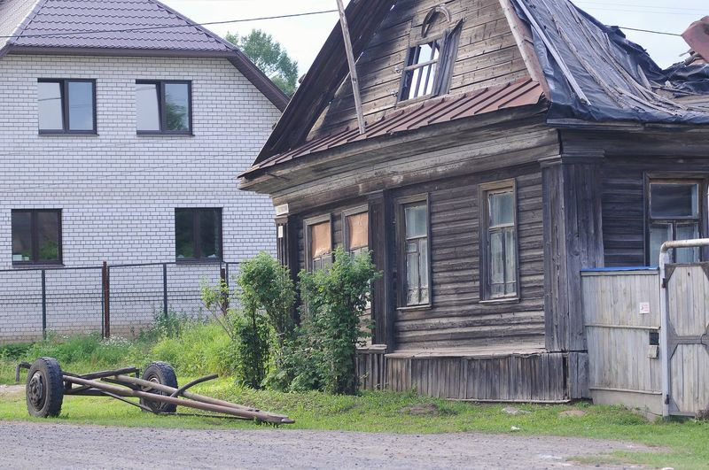 Wood - Material Residential Building Old-fashioned House Farmhouse Architecture Building Exterior Built Structure Bad Condition Civilization