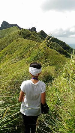 Enjoy The New Normal Nature Outdoors Day Hiking Trail Hikingadventures PhonePhotography Mountains Peak One Person Rural Scene Scenics Beauty In Nature Nature Philippines Let's Go. Together. Lost In The Landscape