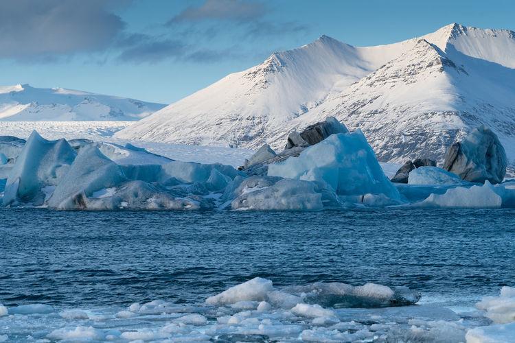 Glacier lagoon jökulsarlon, iceland