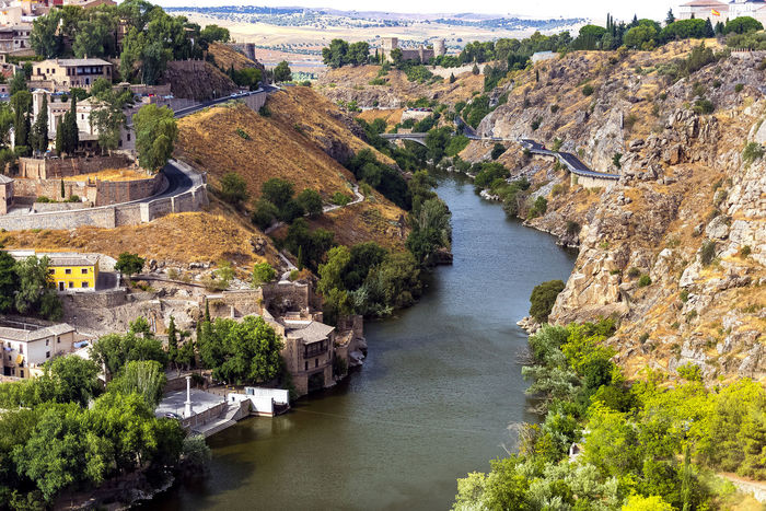 Andalucía SPAIN Architecture Beauty In Nature Building Building Exterior Built Structure City Day High Angle View History Nature No People Outdoors Plant River Scenics - Nature The Past Toledo Travel Travel Destinations Tree Water