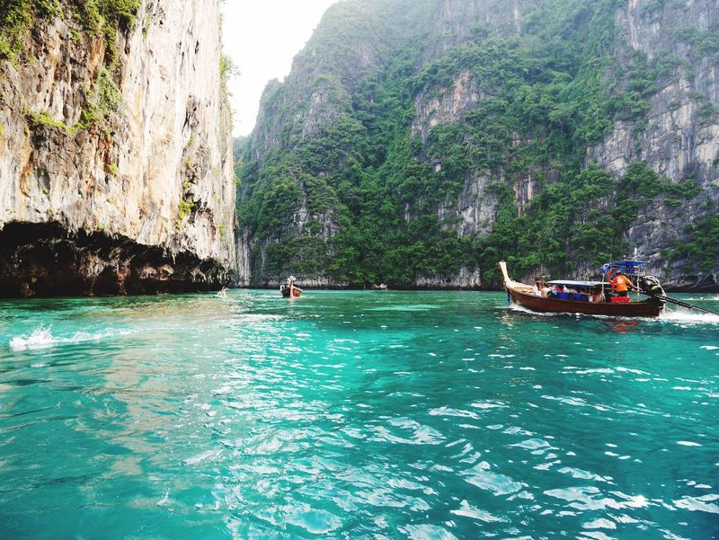 Phiphiisland Koh Phiphi Thailand Island Blue Beautiful Beautiful Nature Bay Traveling