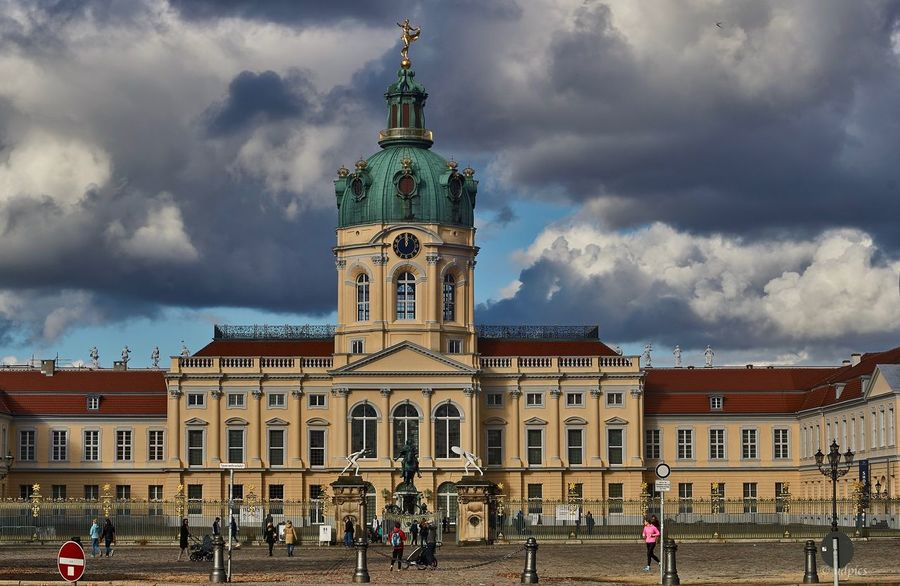 Schloss Charlottenburg Berlin Architecture Building Exterior Built Structure City Cloud - Sky Day History Outdoors Place Of Worship Real People Religion Sky Spirituality Travel Destinations