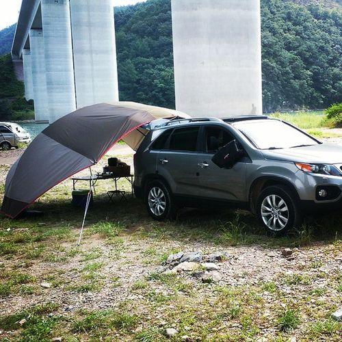 캠핑 타프 소렌토 올여름 돔형 타프와 함께한 카캠핑.