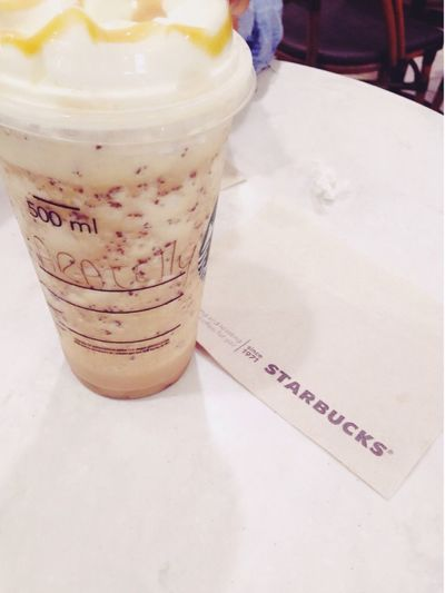 Starckbucks Frappuccino ExtraCaramel Hanging Out Hello World Taking Photos Relaxing Photographic Memory First Eyeem Photo