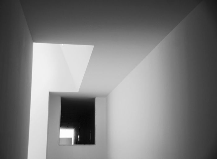 Illuminated corridor at home