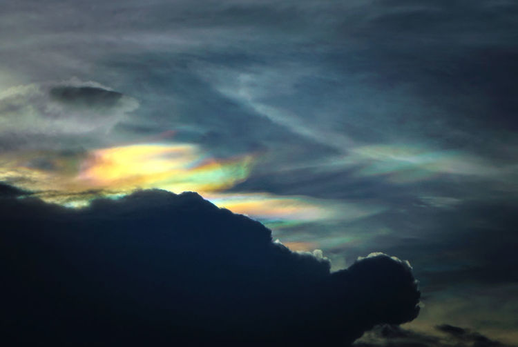 Cloud iridescence or irisation is a colorful optical phenomenon that occurs in a cloud and appears in the general proximity of the Sun or Moon. Rainbow Cloud Sky Colorful Blue Background Iridescence Bright Nature Color Summer Irisation Weather Abstract Spectrum Rain Cloudy Pink Fire Rainbows Rainbows Red Purple Yellow Fantasy Day Cloudscape Fire Sunny Clouds Decoration Spring Light Season  Sun Orange Set Print Wallpaper Pattern Beautiful