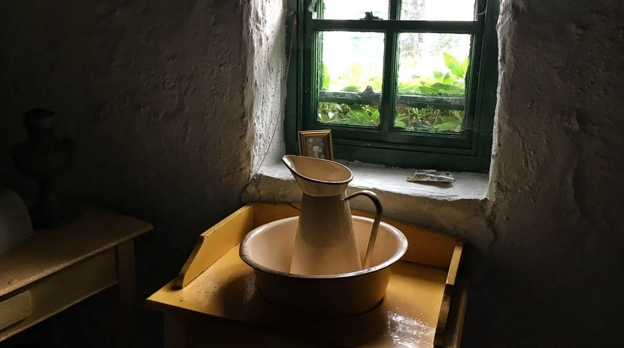 Kerry Cottage #1 Ring Of Kerry County Kerry EyeEm Selects Window Indoors  No People Day Sunlight Home Interior Container Household Equipment Table Wall - Building Feature Domestic Room Architecture Home Old Still Life Crockery High Angle View