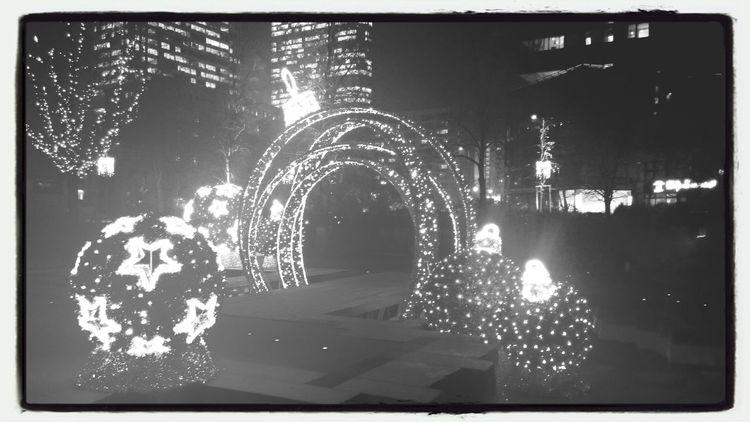 Walking Around Christmas Lights