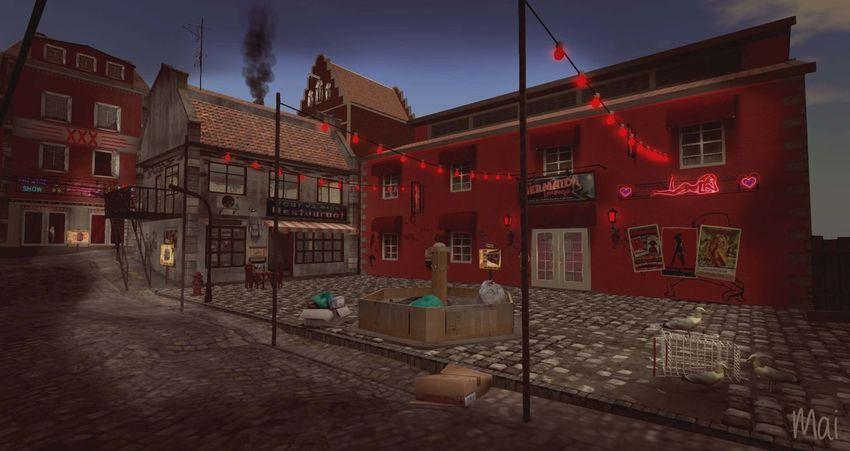 Keine Menschen Nacht Nachtleben Rotlichtviertel Architecture Architektur Bar Building Exterior Built Structure Lampen Licht Night No People Outdoors Red Red Light Rotlicht Sky