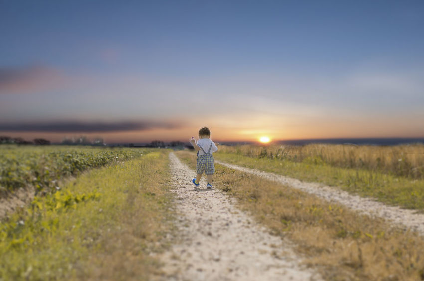 Beauty In Nature Nature One Person Only Men Outdoors Sky Sunset Walking