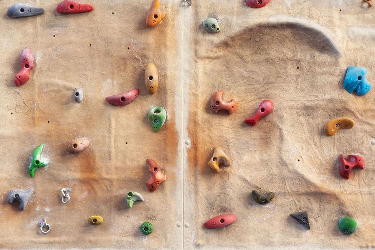 Full frame shot of climbing wall