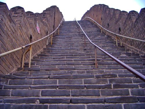Chinese Wall Stairs Steep Pattern Pieces Stairway