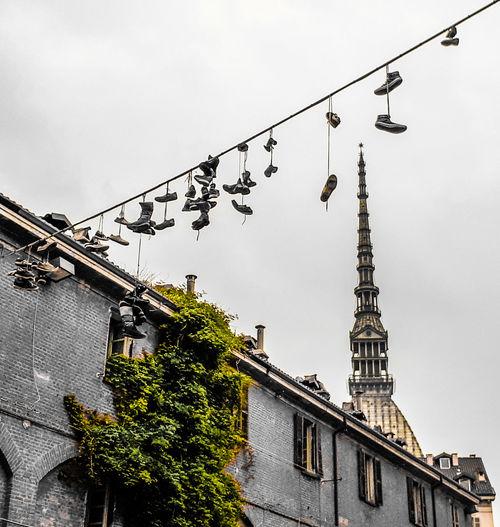 Shoes ♥ Shoefitti Shoefiti Mole Antonelliana City Sky Architecture Building Exterior Built Structure