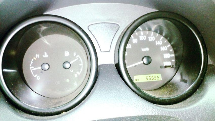 55555 55555 5 Km Kilometer Kilometers Drive Car Miles Milestone Display Trip Number