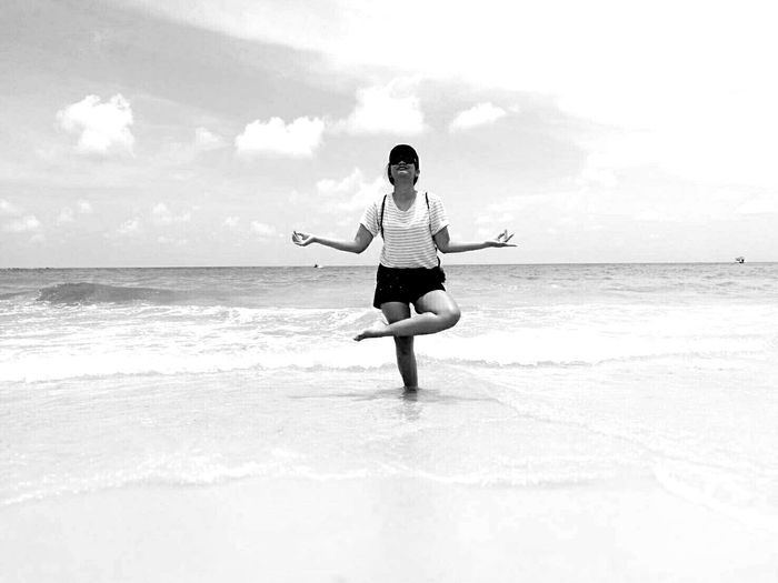 Blackandwhite Photography Samed Island Samed Thailand Sea Sand One Person Only Women