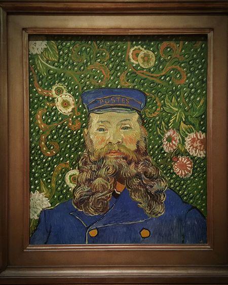 Vincent Van Gogh Portrait of joseph roulin, Exhibit  at Moma N.Y. Museum Of Modern Art Museum Exhibition Art Exhibition