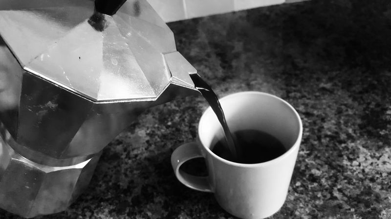 """""""coffee""""⚫⚪☕ Indoors  No People Mixing Close-up Freshness Day Blackandwhiteworld Photography Themes EyeEm Selects The Week On EyeEm Photographing Modern Backgrounds Retro Styled"""