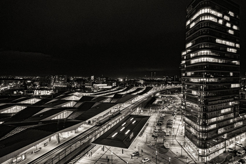 Black and White in VIenna City Street Cityscape Architecture Black Blackandwhite Photography Citylights Eyem Best Shots Night Outdoors Second Acts Perspectives On Nature