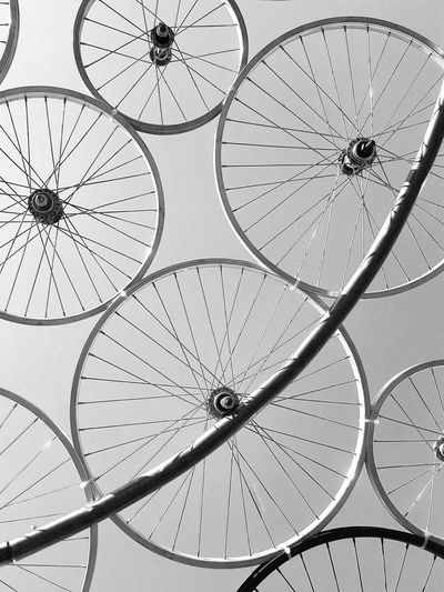 Bycicle Weels Spokes Blackandwhite Black & White Sculpture Zagreb Croatia