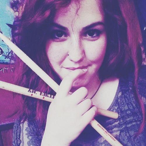 Ready! Playdrums Drummerok DrummerGirl Drummer drums drumsticks vicfirth vic firth drumstick redhead redhair me italian work passion picoftheday lovedrums rock yeah TFLers TagsForLikes