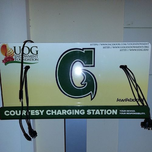 Charging Station for the busy user UOG UOGBookstore Studentresource Publicgood utilizeit plugin instatech Guam