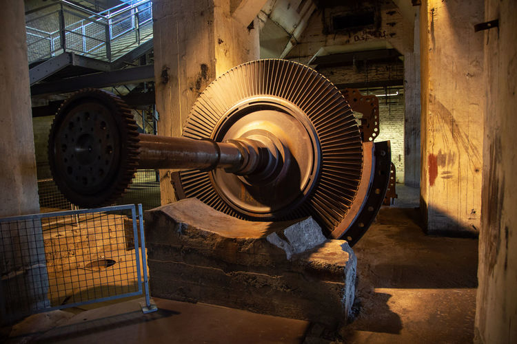 Historical And Technical Museum Architecture Built Structure Business Electric Fan Equipment Factory Fan Geometric Shape Indoors  Industrial Equipment Industry Machine Part Machinery Metal No People Old Shape Technology Wood - Material