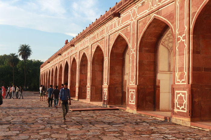 humayun's tomb new delhi Architectural Column Architecture Building Exterior Built Structure Day History Large Group Of People Men Outdoors People Real People Tourism Travel Destinations Women