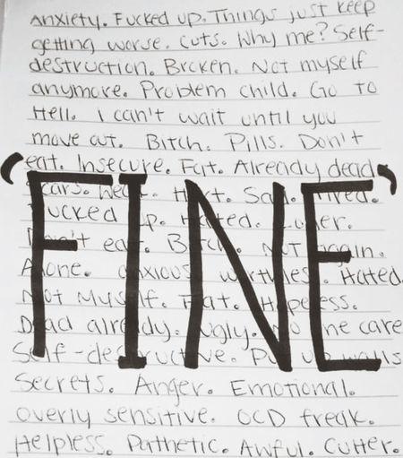 "i'm ""fine"""